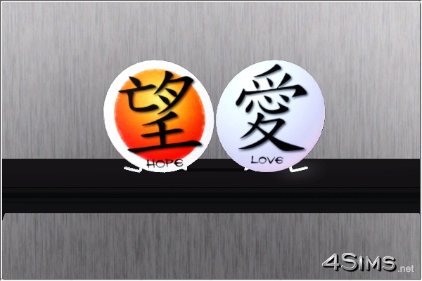Asian chinese and japanese decorative plates for Sims 3 by 4Sims