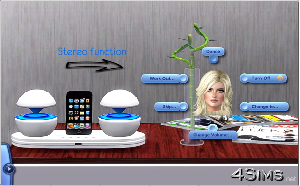 Futuristic iPod Docking Station for Sims 3 by 4Sims