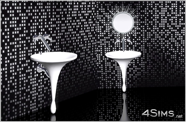 Modern bathroom sink for Sims 3 by 4Sims