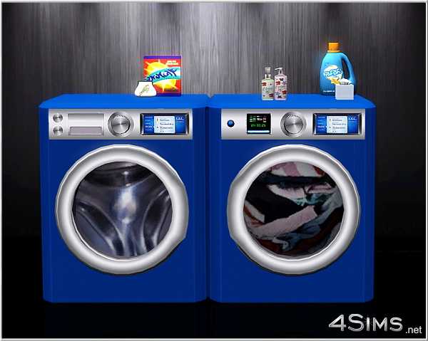 Washing machine and dryer combo clutter for Sims 3 by 4Sims