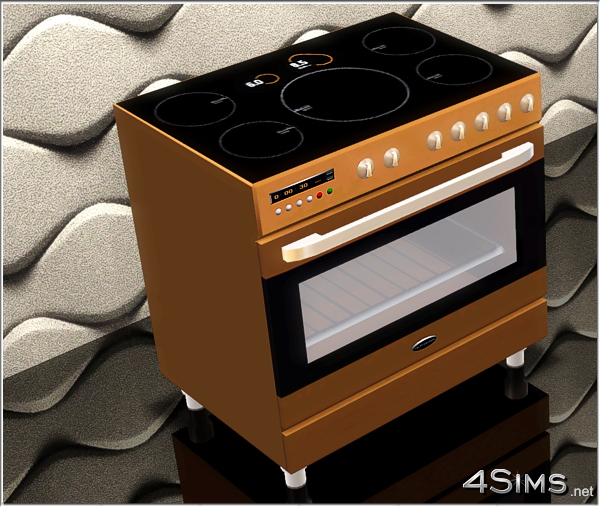 Electric range cooker for Sims 3 by 4Sims