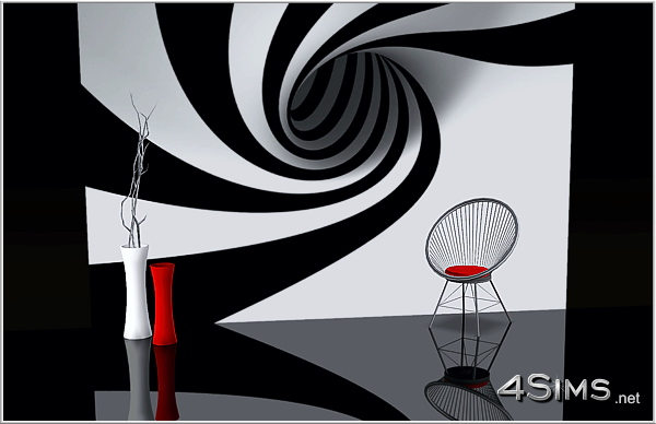 3 abstract and perspective backgrounds for Sims 3 by 4Sims