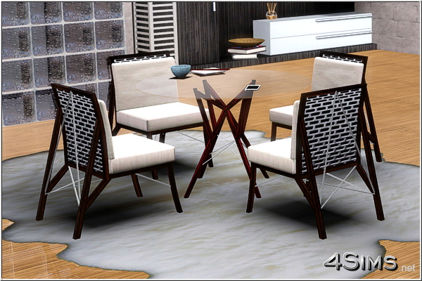 Wire Dining Room Glass Table And Chair For Sims 3 4sims