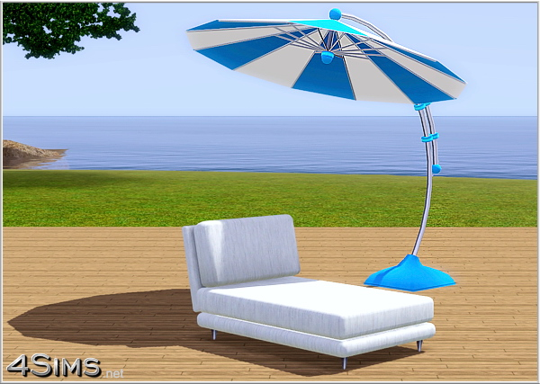 4 Sims Contemporary Outdoor Sun Umbrella - 4